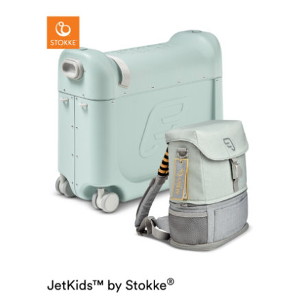 JETKIDS™ BY STOKKE® Aufsitzkoffer BedBox™ mit Crew BackPack™ Green