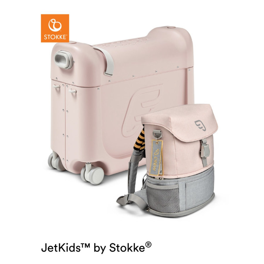JETKIDS™ BY STOKKE® Aufsitzkoffer BedBox™ mit Crew BackPack™ Pink
