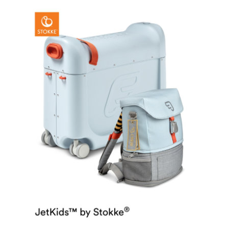 JETKIDS™ BY STOKKE® Aufsitzkoffer BedBox™ mit Crew BackPack™ Blue