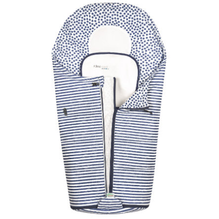odenwälder Sommerfußsack Klimocool, Stripes Light Denim