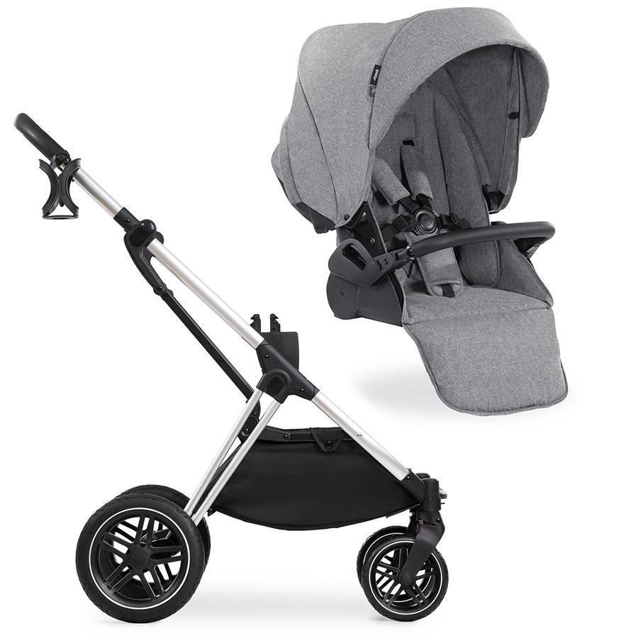 hauck Kinderwagen Vision X Silver mit Sportwagenaufsatz Melange Grey
