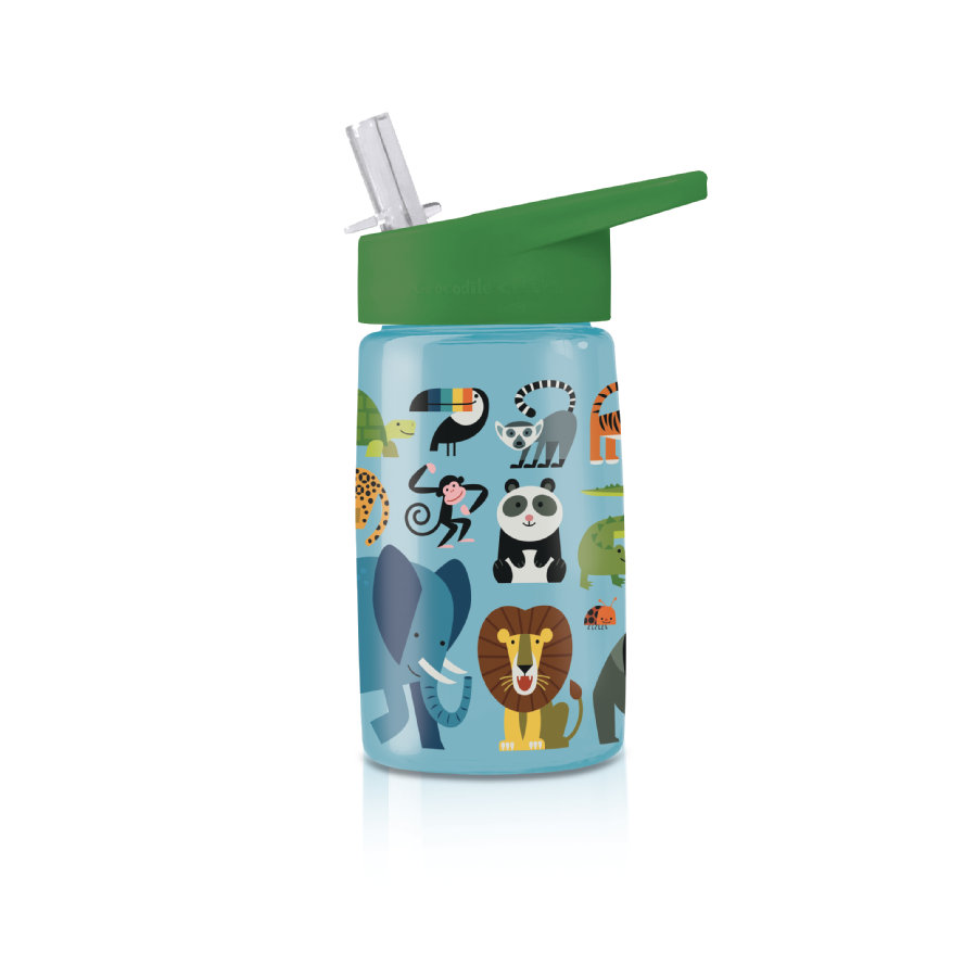 Crocodile Creek® Trinkflasche aus Tritan - Dschungelfreunde