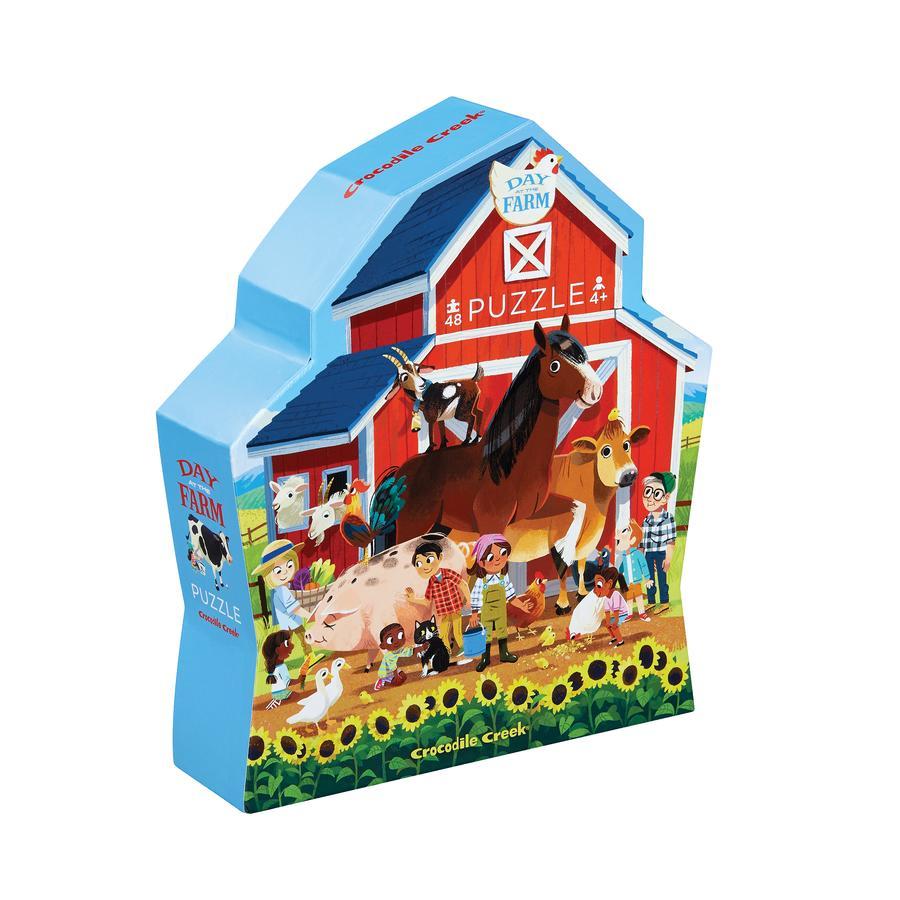 Crocodile Creek ® Minipuzzel 48 stukjes Een dag op de boerderij