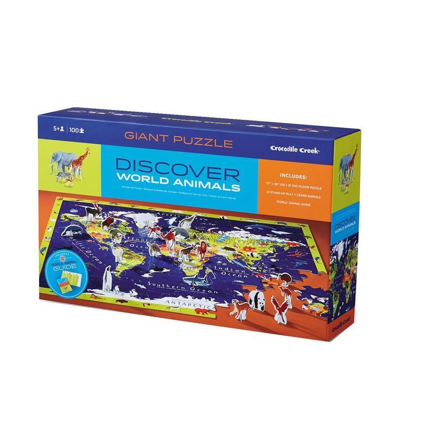 Crocodile Creek ® Discoverer Puzzle 100 stk. verden