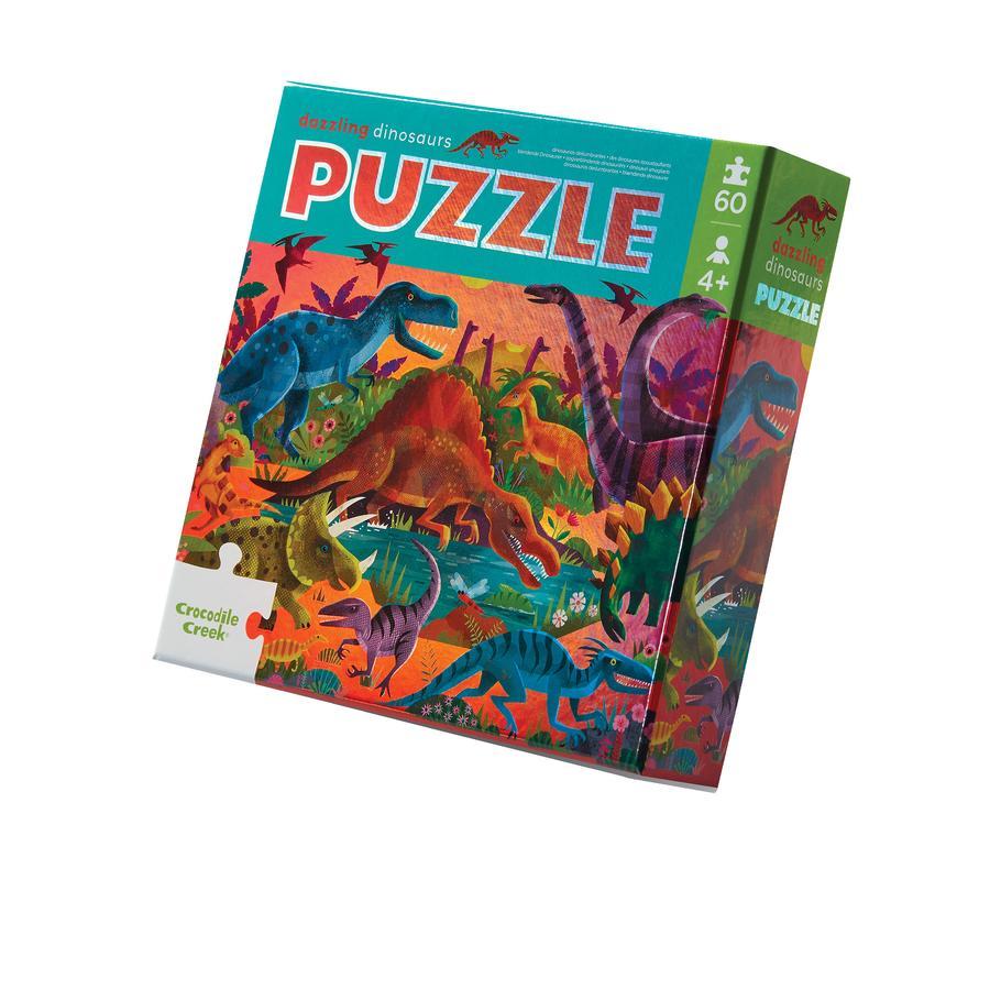 Crocodile Creek® Folien Puzzle Dinosaurier - 60 tlg.