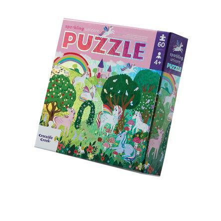 Crocodile Creek ® Fóliové puzzle Jednorožec - 60 ks.