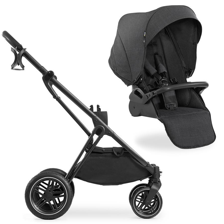 hauck Kinderwagen Vision X Black mit Sportwagenaufsatz Melange Black