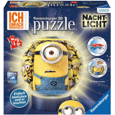 RAVENSBURGER 3D Puzzle Ball - Night Light Minions