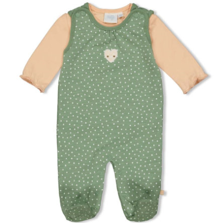 Feetje Romper 2-delt Heart s Green