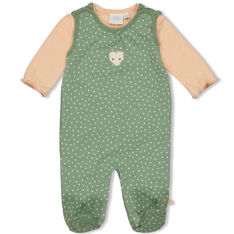 Feetje Romper 2-dílný Heart s Green