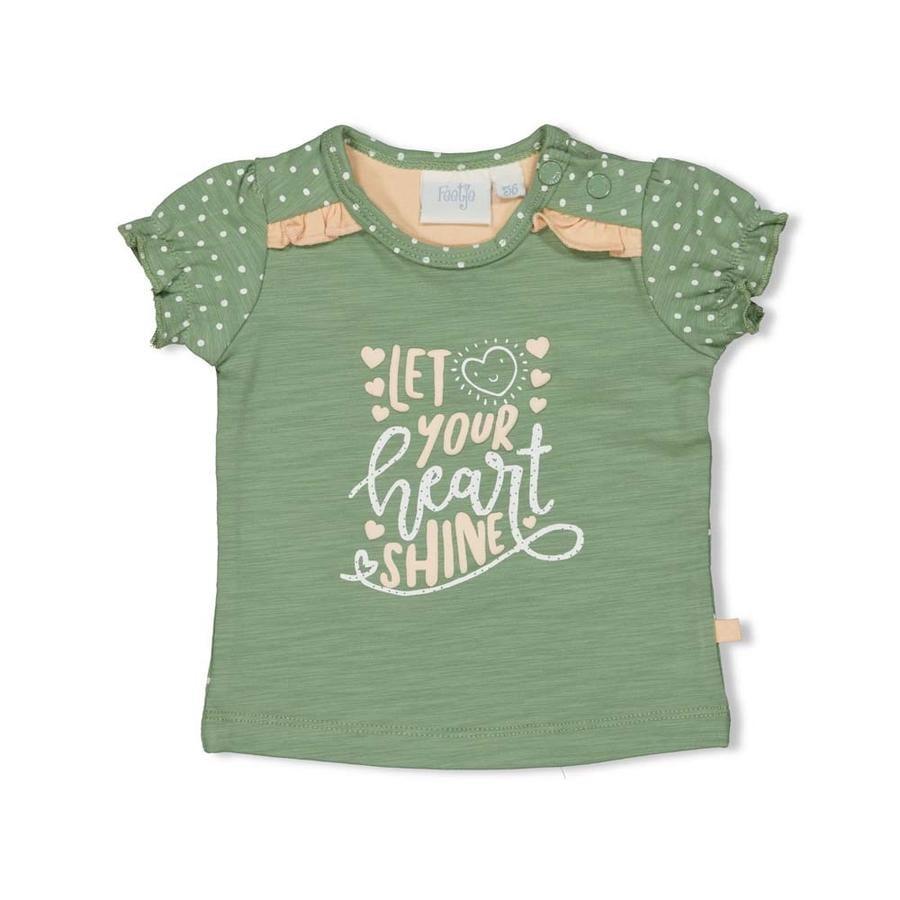 Feetje T-shirt Heart s grøn