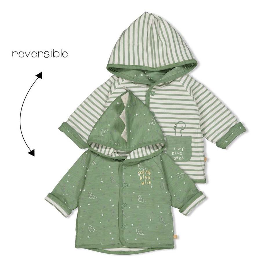Feetje Vendbar jakke med hætte Dinomite grøn