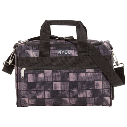 4YOU Basic Sac de sport S - Black Squares