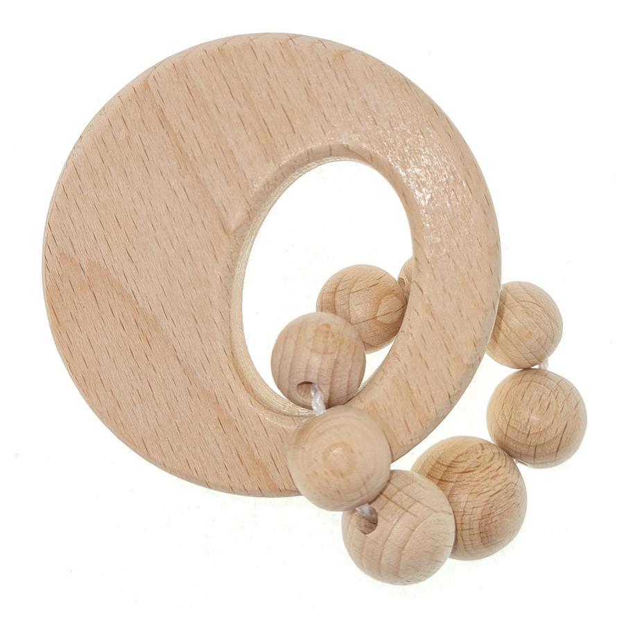 HESS Hochet cercle bois naturel pur