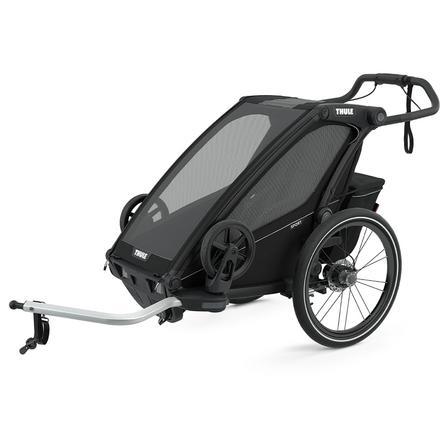 THULE Remolque de bicicleta para niños Chariot Sport 1 Mid night  Black