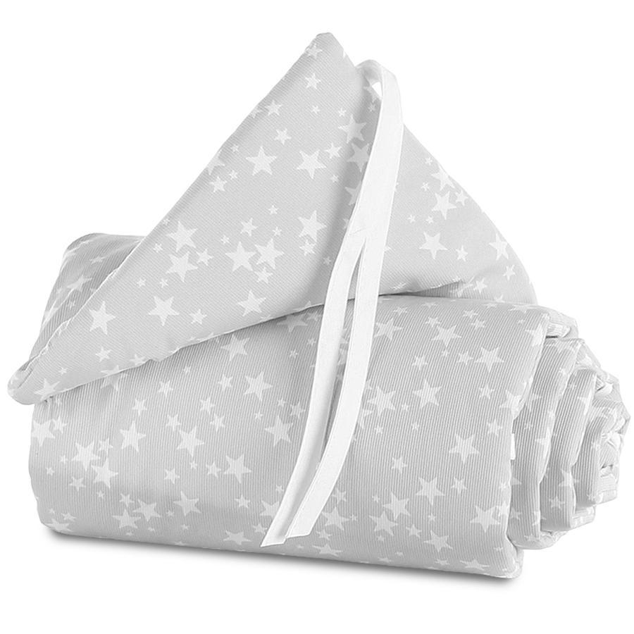 TOBI Babybay Spjälsängsskydd Maxi - vita stjärnor