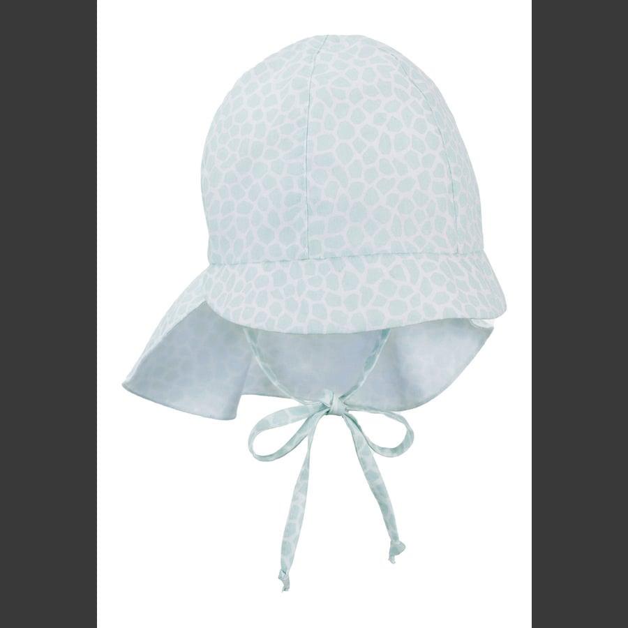 Sterntaler Bio-Schirmmütze mit Nackenschutz helltürkis