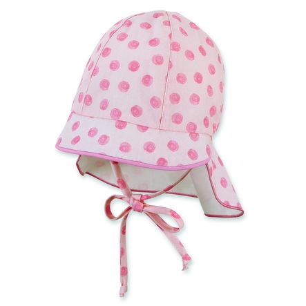 Sterntaler Bio-Schirmmütze mit Nackenschutz rosa