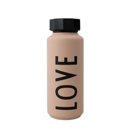 Design letters Thermoflasche in nude