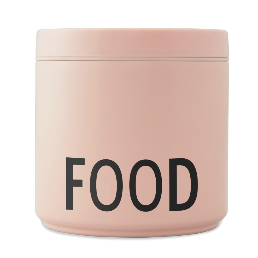 Design letters Thermo lunchbox duży, nude