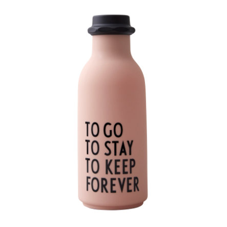 Design Letters Water Bottle To Go i nøgen