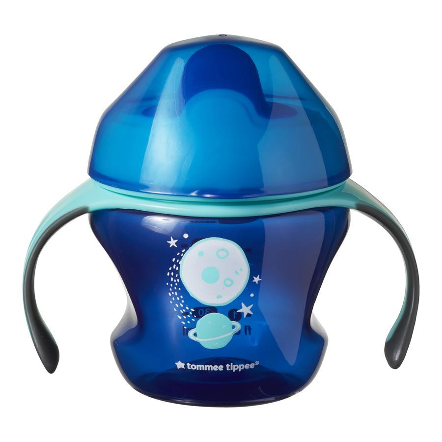 Tommee Tippee Trinklernbecher First Cup mit Griffen, blau