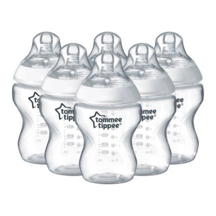 Tommee Tippee Babyflaschen Closer to Nature Baby - 260 ml, 6er Pack, weiß