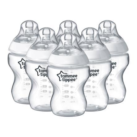 Tommee Tippee Closer to Nature Baby - Biberón 260 ml, paquete de 6, blanco