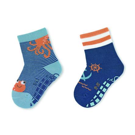 Sterntaler ABS sokker dobbel pakke blekksprut blå