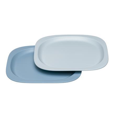nip manger green Assiette pour enfants en bleu/bleu clair