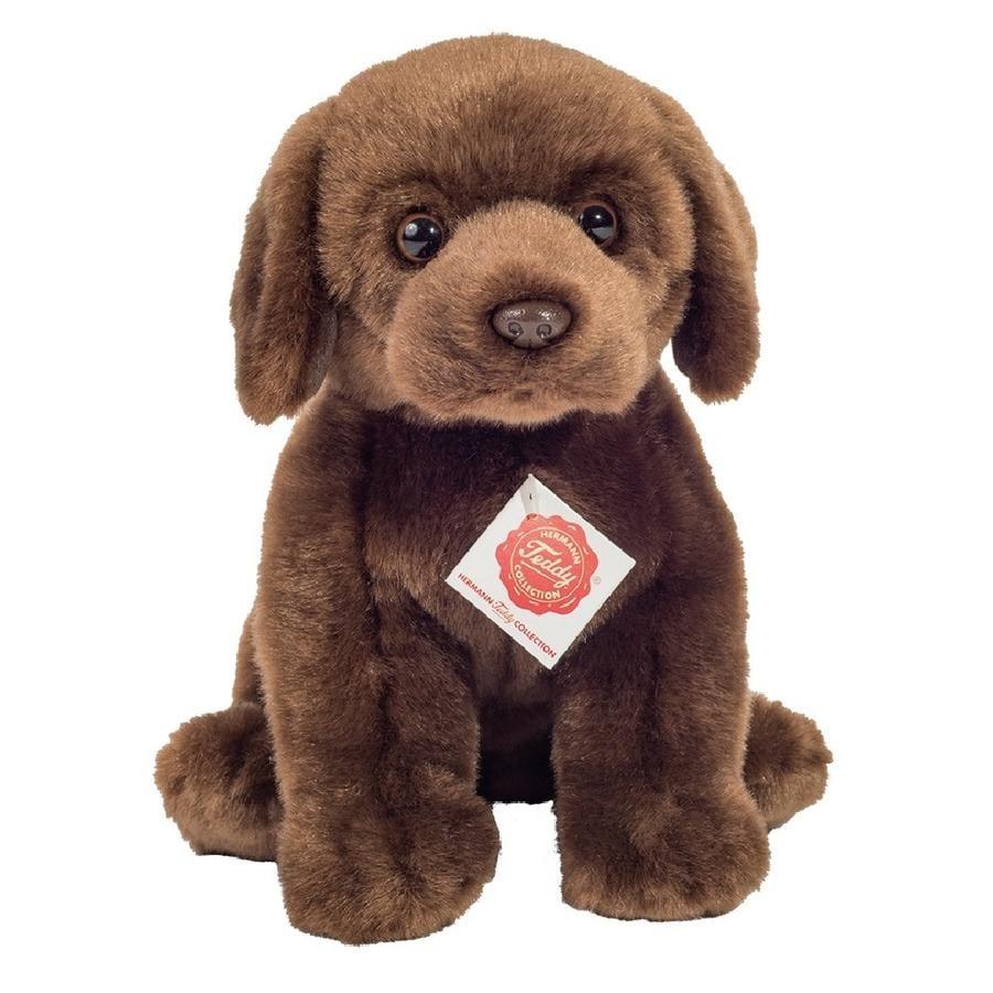 Teddy HERMANN® Labrador sitzend dunkelbraun 25 cm