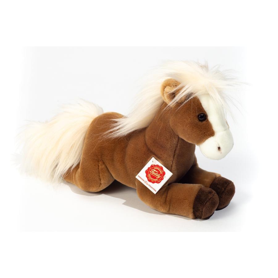 Teddy HERMANN ® Hest liggende lysebrun 30 cm