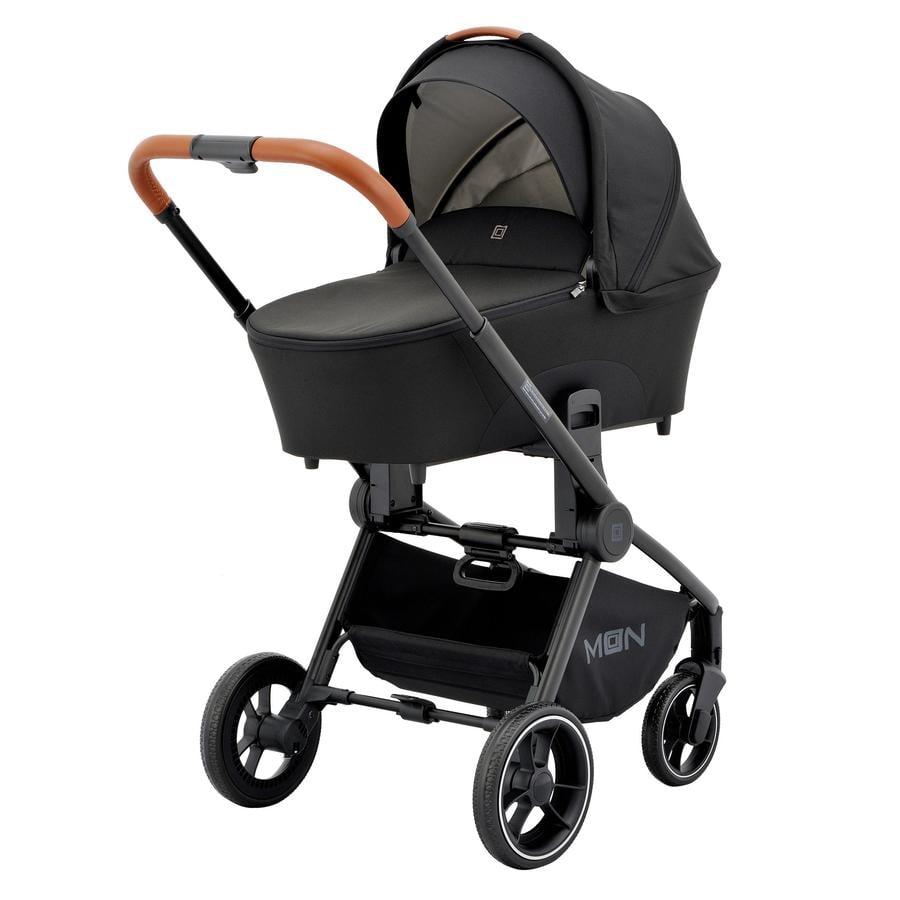 MOON Wózek dziecięcy Resea Kombi Black Melange Exclusiv