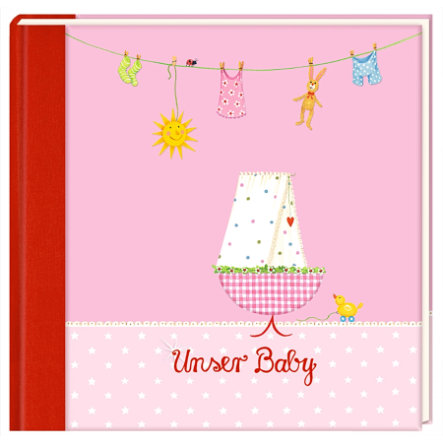 COPPENRATH Eintragalbum - Unser Baby (rosa)