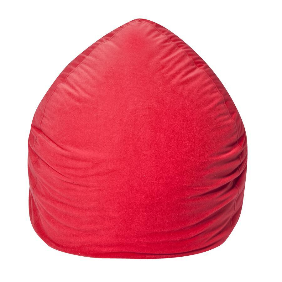 pushbag Pouf enfant rond Bag220 microfibre rouge
