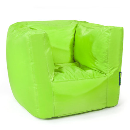 pushbag Sitzsack Cube Oxford lime