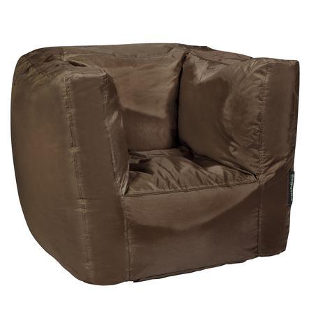 pushbag Sitzsack Cube Oxford brown