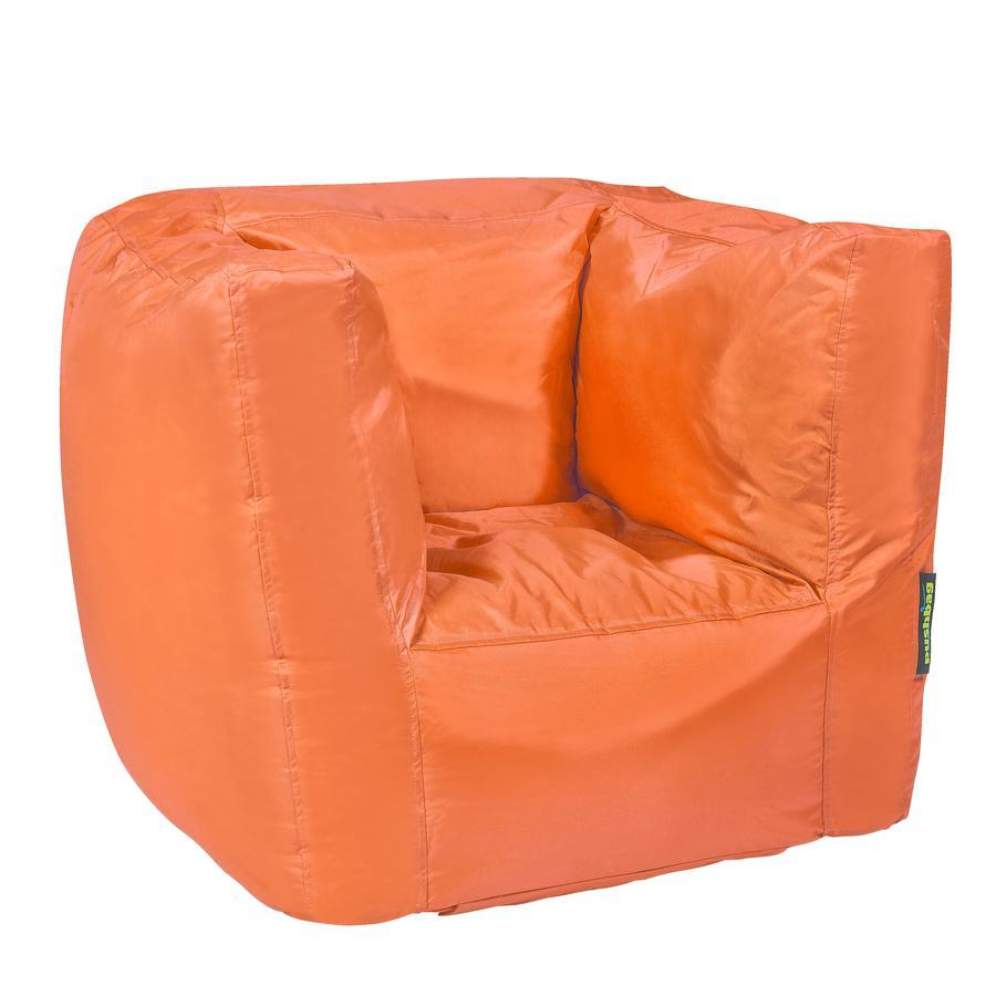 pushbag Pouf fauteuil enfant Cube Oxford orange