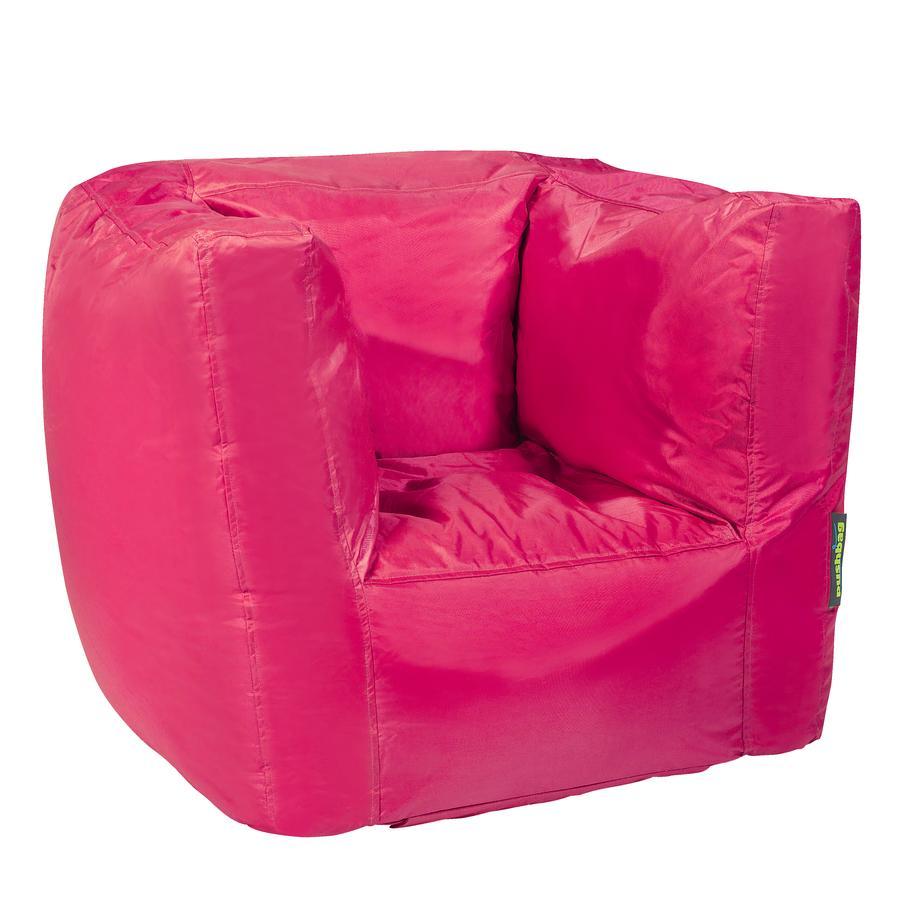 pushbag Sitzsack Cube Oxford pink