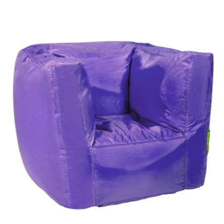pushbag Beanbag Cube Oxford purple