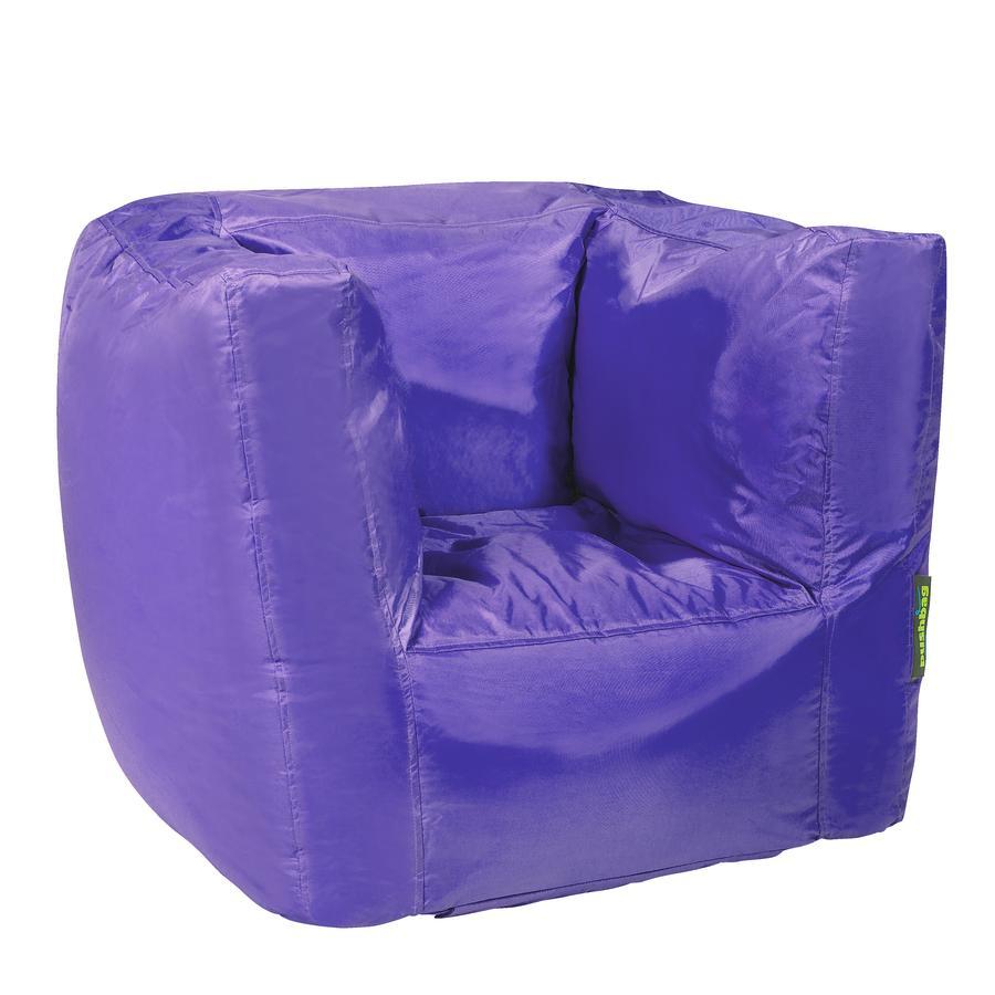 pushbag Pouf fauteuil enfant Cube Oxford pourpre