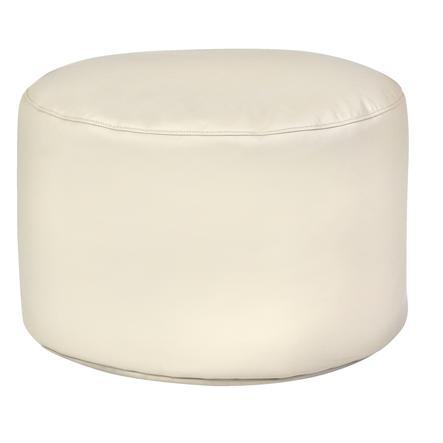 pushbag Sitzsack Drum Kunstleder beige