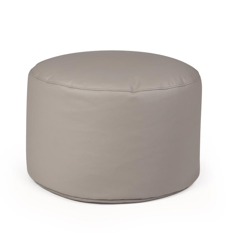 pushbag Sitzsack Drum Kunstleder taupe