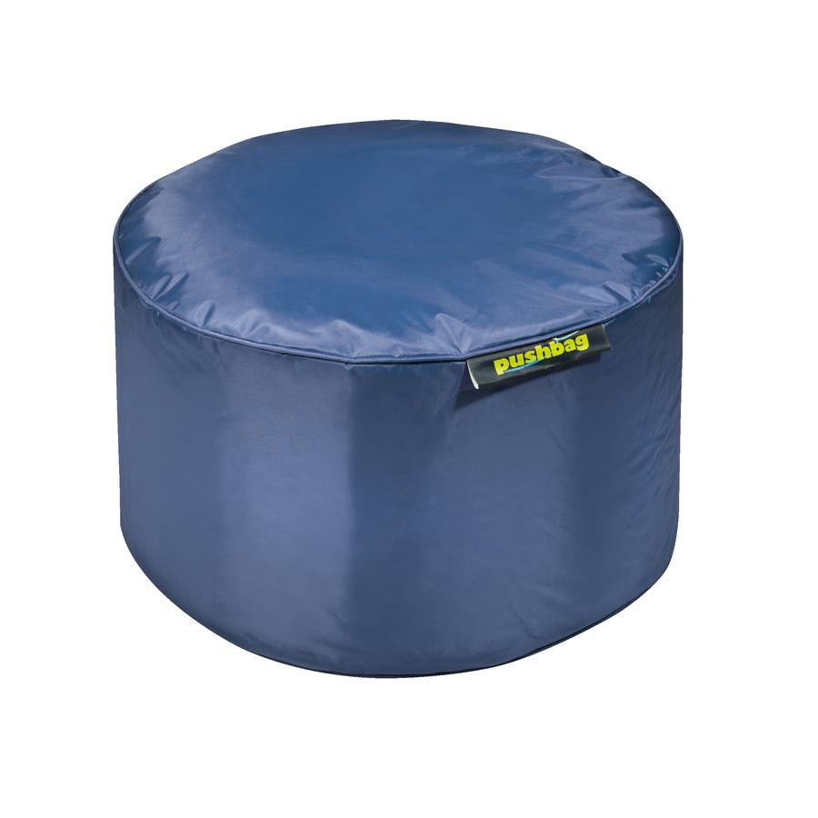 pushbag Pouf enfant rond Drum Oxford bleu marine