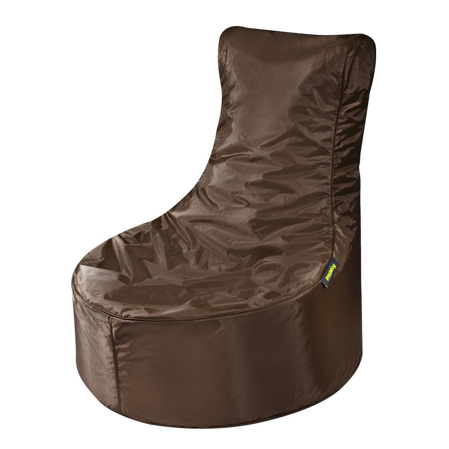 pushbag Sitzsack Seat Oxford brown