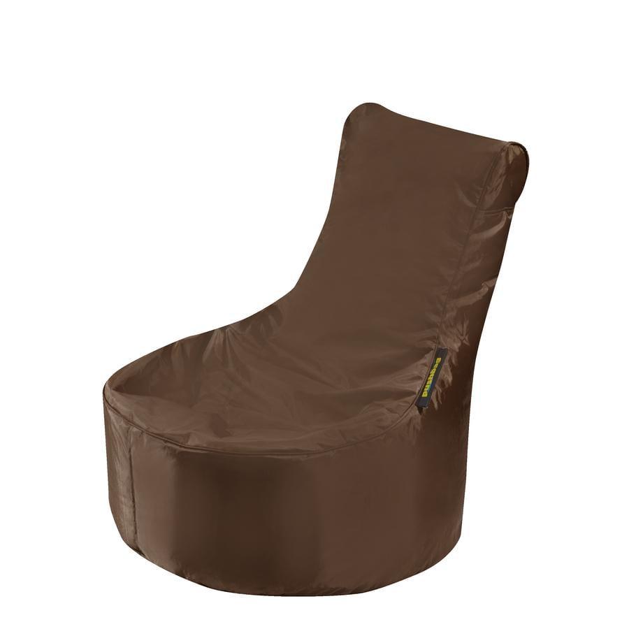 pushbag Sitzsack Seat XS Oxford brown
