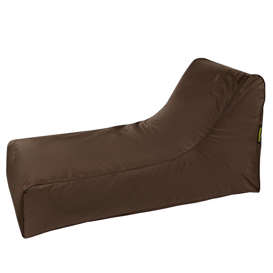 pushbag Pouf canapé à dossier enfant Stretcher Oxford brun