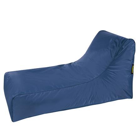pushbag Pouf canapé à dossier enfant Stretcher Oxford bleu marine