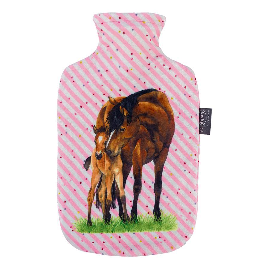fashy Wärmflasche mit Bezug Pferdefreunde