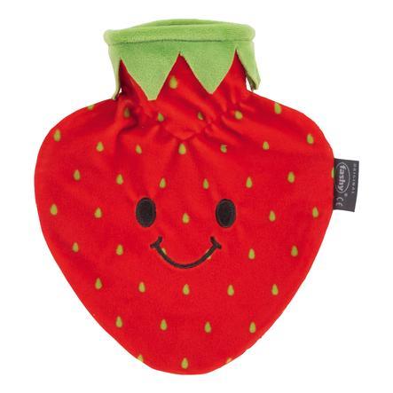 fashy Wärmflasche mit Bezug Erdbeere